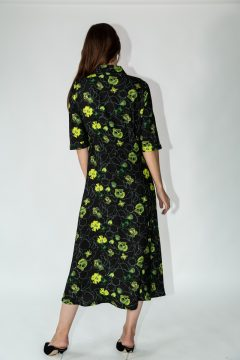dafina dress green flowers