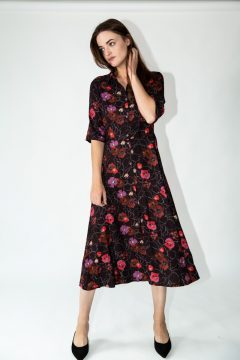 dafina dress red flowers
