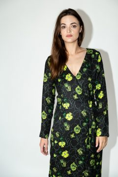 dress daisy green flowers