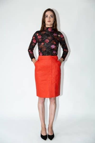 skirt sissy red pinatex