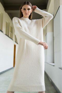knitwear dress dinny off-white